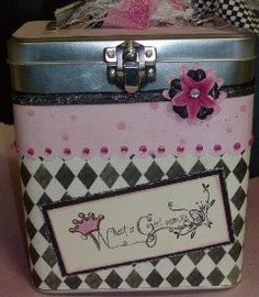 What a girl Wants Altered Girly Metal Tin by TheScrapoholic. $10.00, via Etsy.