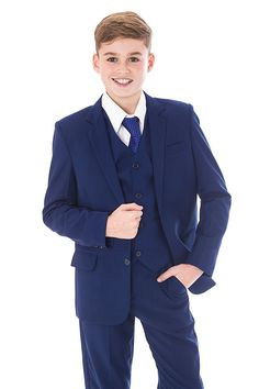 Boys Blue Suits Royal Blue Suit Navy Formal Wedding PageBoy Party Prom 5pc Suit: Amazon.co.uk: Clothing