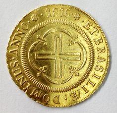 Moeda de 4000 réis - OURO - ano 1816 (D. João Príncipe Regente) - rara