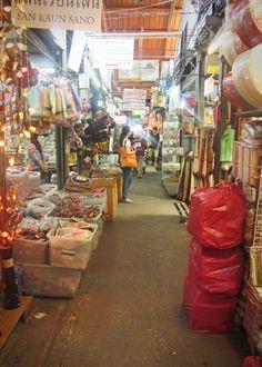 Stalls at Chatuchak Market in Bangkok