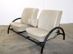 vintage 1970s Mercedes leather seat INDUSTRIAL CHIC metal SOFA TOP GEAR inspired - Actually have one like this ...
