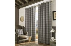 Archie Slate Curtains - 229cm x 229cm: The Archie collection features a beautiful heavyweight checked design in… #UKShopping #OnlineShopping
