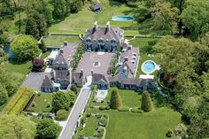 This 1929 Norman-style manse in Pennsylvania is set on 50 manicured acres, and boasts two swimming pools and a tennis court. Omg I would love to walk around this place Beautiful Houses Interior, Beautiful Homes, House Beautiful, Spanish Mansion, Linden Hills, Architectural Digest, My Dream Home, Future House, Interior And Exterior