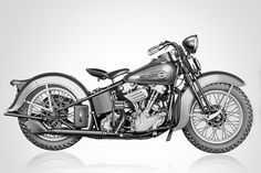 "EL ""Knucklehead"" (1936)  Est. Value: 100K  Est. Units: 1,600   Speed: 60mph   This bike is the father of the modern American Harley. Not only did the engine influence all of the air-cooled twins that Harley built after, but the styling cues have remained strong, such as the shape of the ""teardrop"" gas tank. The first production year saw low numbers, partly because of trepidation on the part of Company founders. Their concern was misplaced, & the original ""Knucklehead"" is now considered a…"