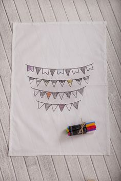 Jaci stenner bunting design with colour. So much fun!