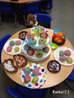 "A Play Dough Tea Party from Stimulating Learning with Rachel ("",) Eyfs Activities, Nursery Activities, Playdough Activities, Activities For Kids, Princess Activities, Birthday Activities, Preschool Ideas, Reggio Emilia, Reception Class"