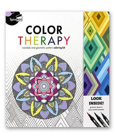 Sketch Plus Color Therapy Kit #zulily #zulilyfinds Another coloring book that you can color and display after
