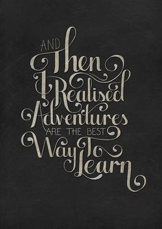 Why I love adventures