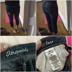 Aeropostale ankle jeans Size 000 but fit 00/0. If you're into ankle jeans this one is great for spring or summer time! Aeropostale Jeans Ankle & Cropped