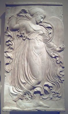 Ancient Roman relief of dancing maenad, copy after a Greek relief sculpture in Athens at the end of the century BC, A. Plaster Sculpture, Plaster Art, Roman Sculpture, Sculpture Art, Ancient Rome, Ancient History, Art History, Art Romain, Roman Art