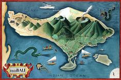 Bali Balinese Travel Vintage Posters Art Prints  Vintage Venus  For ME!! large canvas or large paper