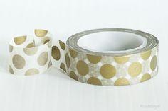 Large Dots GOLD Washi Tape Wedding Decor