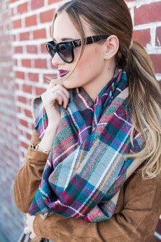 the coziest plaid blanket scarf mindymaesmarket #dreamcloset