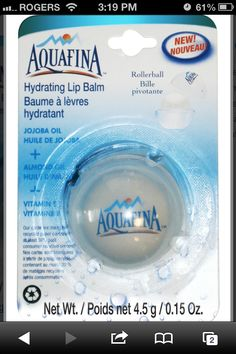 Aquafina chapstick