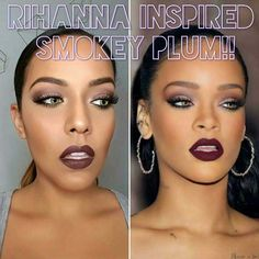 Best Celebrity Makeup Tutorials - Celebrity Inspired - Rihanna Makeup Tutorial - Step By Step Youtube Videos, Tips and Beauty Secrets From All the Top Celebrities Like Kylie Jenner, Taylor Swift and Ariana Grande - Hair Style Ideas, Eyeliner and Eyebrow Tricks and How To Get Perfect Kat Von D Hairstyles - thegoddess.com/celebrity-makeup-tutorials