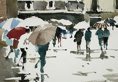 Sketches Of People, Watercolours, David, Journey, Urban, Painting, Style, Watercolor Artists, Human Figures