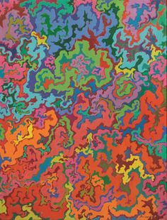 Luigi Boille (Italian, 1926-2015), Struttura libera, 1966. Oil on canvas, 116.00 x 90.00 cm