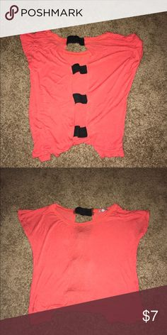 Open back Top This super cute top from Charlotte has an open back. I wore this with a black strapless bra and it's just blended in and looked like a black strap. Charlotte Russe Tops Blouses