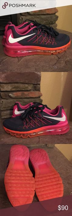 Nike Air Max 2015 charcoal/white/pink! Size 7.5! Nike Air Max 2015! Color is charcoal/white/pink size 7.5 women's. These shoes are very gently worn once! Like new! No box. Nike Shoes Athletic Shoes