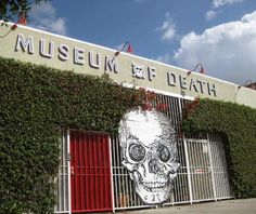 """Museum of Death, Hollywood, CA. """"This stomach-churning homage to murder, dismemberment, and rigor mortis houses (among other things) a collection of serial killer artwork, photos of horrific accidents and famous crime scenes, and the guillotine-severed head of the murderous Bluebeard of Paris."""""""