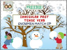 FREEBIE!! Irregular Past Tense Verb Snowmen Match Up from Shanda from Shanda on TeachersNotebook.com (17 pages) - Irregular past tense verbs are tricky! They require the act of memorization because they go against all of the normal rules on how to make a verb go into past tense form. They are difficult for students to learn!