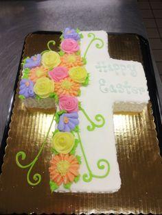 Cross Cake - Easter, Baptism, First Communion, Confirmation, Christening - Erin Miller Cakes - https://www.facebook.com/erinmillercakes
