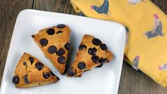 orange dark chocolate scones recipe gluten-free- so good! (I make them without the orange. Blueberries in place of chocolate chips is also yummy.)