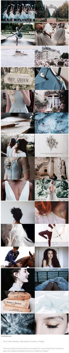 """foundinghouses   Harry Potter Aesthetic: Beauxbatons Academy of Magic   """"We only accept the finest witches and wizards, for we will teach them to become great role models and leaders here at our Academy of Magic."""""""