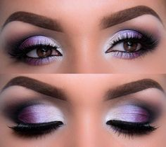 Best Eyeshadow For Blue Eyes, Redheads can be easily found but finding out right eye makeup tips for redheads can give you tough time. Gorgeous Makeup, Pretty Makeup, Love Makeup, Makeup Tips, Makeup Ideas, Purple Makeup, Purple Wedding Makeup, Eyeshadow For Blue Eyes, Best Eyeshadow