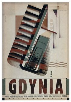 Polish poster designed by artist Ryszard Kaja to promote tourism to Poland. It has now been turned into a post card size x - x Art Deco Posters, Poster Prints, Modern Posters, Polish Films, Polish Posters, Art Deco Period, Book Cover Art, Typography Prints, Vintage Travel Posters