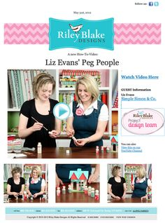 Riley Blake Designs Blog: Peg People tutorial really cute. YouTube tutorial: http://www.youtube.com/watch?v=-zihD2rR7xo