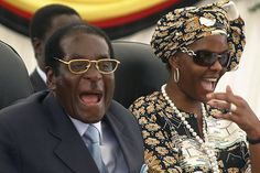 Zimbabwean President Robert Mugabe and his wife Grace during a visit to Harare hospital in Harare, Zimbabwe Political Reform, New Press, Russia News, Get Fresh, Lifestyle News, I Love To Laugh, Former President, Trending Videos, Look Alike
