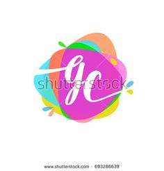 Letter Cc Logo In Triangle Splash And Colorful Background Letter