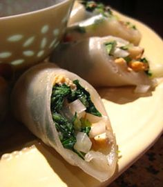 Stop in to your local farmers market and pick up some bok choy to make delicious tofu spring rolls for dinner.