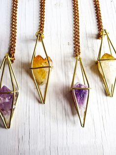 Four geometric crystal necklaces are better than one