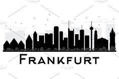 @Frankfurt @City @skyline @silhouette by Igor Sorokin on @creativemarket