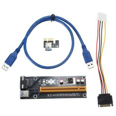 PCI-E 1x to 16x Graphics Extension Cable Extender Riser Card Adapter Mining Dedicated USB 3.0