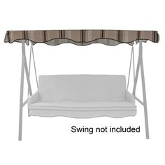 Garden Treasures Tan/Brown Steel 3 Person Replacement Top For Porch Swing  Or Glider
