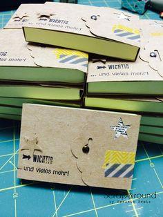 PostIt Büchlein nett verpackt mit Stampin´ Up! Kraft Cardstock, vom Blog Scraparound