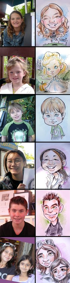 Caricatures while working at Busch Gardens, Fun comparisons :)