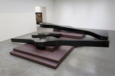 MICHAEL HEIZER Altar 3, 2015 Weathering steel, coated with polyurethane 62 1/2 × 360 × 379 1/2 inches (158.8 × 914.4 × 963.9 cm) Photo by Rob McKeever *View 2
