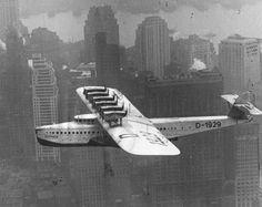Dornier X in flight over New York (Inter war)