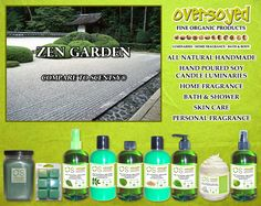 Zen Garden (Compare To Scentsy®) Product Collection - A dewy-sweet bloom of ripe honeydew, soft freesia, and water lotus. #OverSoyed #ZenGarden #Scentsy #Candles #HomeFragrance #BathandBody #Beauty