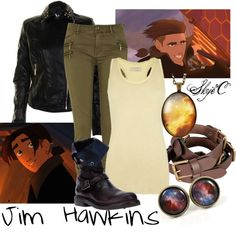 """""""Jim Hawkins Inspired Outfit"""" by rubytyra on Polyvore"""