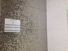 silver and white structured tiles, Porcelanosa