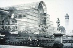 The Crystal Palace was a cast-iron and plate-glass building originally erected in Hyde Park, London, England, to house the Great Exhibition of Crystal Palace, Carlton Gardens, Hyde Park London, Victorian London, Victorian Steampunk, Victorian Era, Vintage London, Exhibition Building, Glass Building