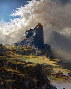 The Rock, Piotr Jasielski on ArtStation at https://www.artstation.com/artwork/the-rock-a1dbe7fb-fda0-4cc0-927b-d4b94181fb00