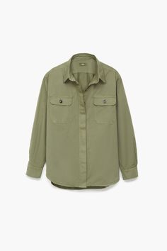 071b6063281 Cotton Shirt. Shirt made of strong brushed twill with a subtle used finish.  High