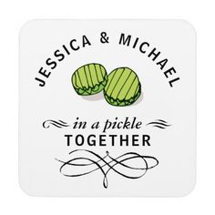 #funny - #Couples' In a Pickle Together Personalized Beverage Coaster