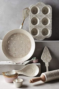 Raised Bloom Pie Pan - anthropologie.com
